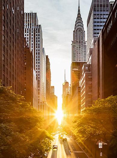View Of New York street
